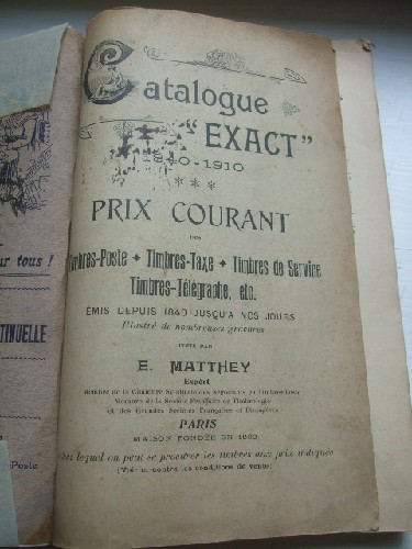 Catalogue ''Exact'' 1840-1910. Prix courants - Timbres postes -