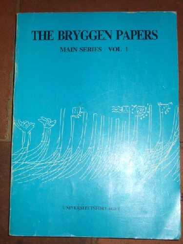 The  Bryggen papers. main series. Vol 1.